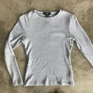 Missguided | Ribbed Thermal Stretch LS Tee